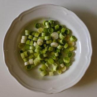 chopped scallions/leeks