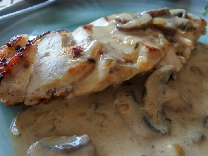 pan-roasted chicken with mushrooms