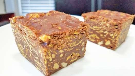 No-bake Chocolate Crunch Bars