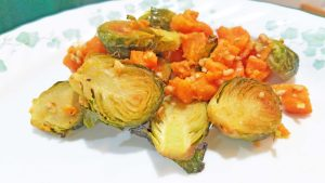 Sweet Potatoes and Brussels sprouts