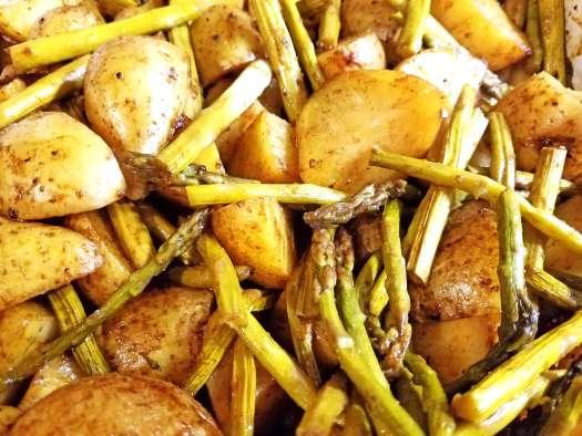 Balsamic Potatoes and Asparagus