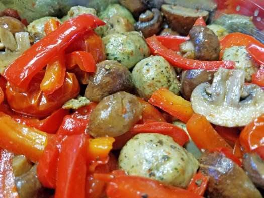 Summer Vegetables and Sausage