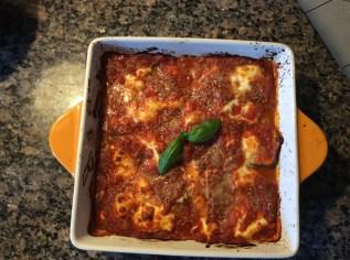 Eggplant Parmesan at home