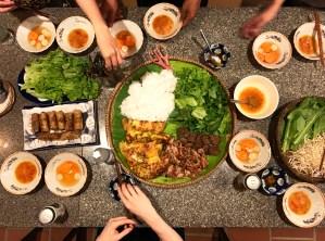 Vietnamese family feast
