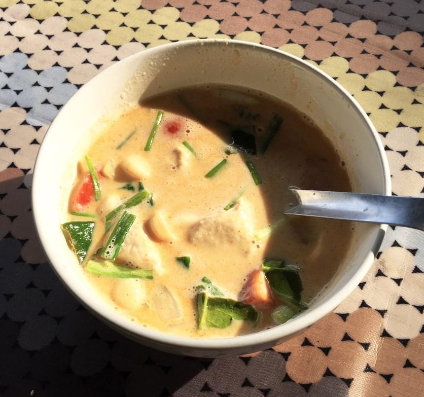 Thai coconut chicken soup Tom Kha gai