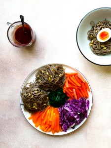 korean platter noodles