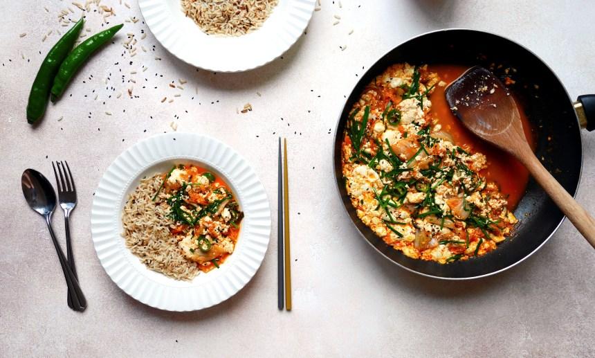 korean superfood tofu kimchi