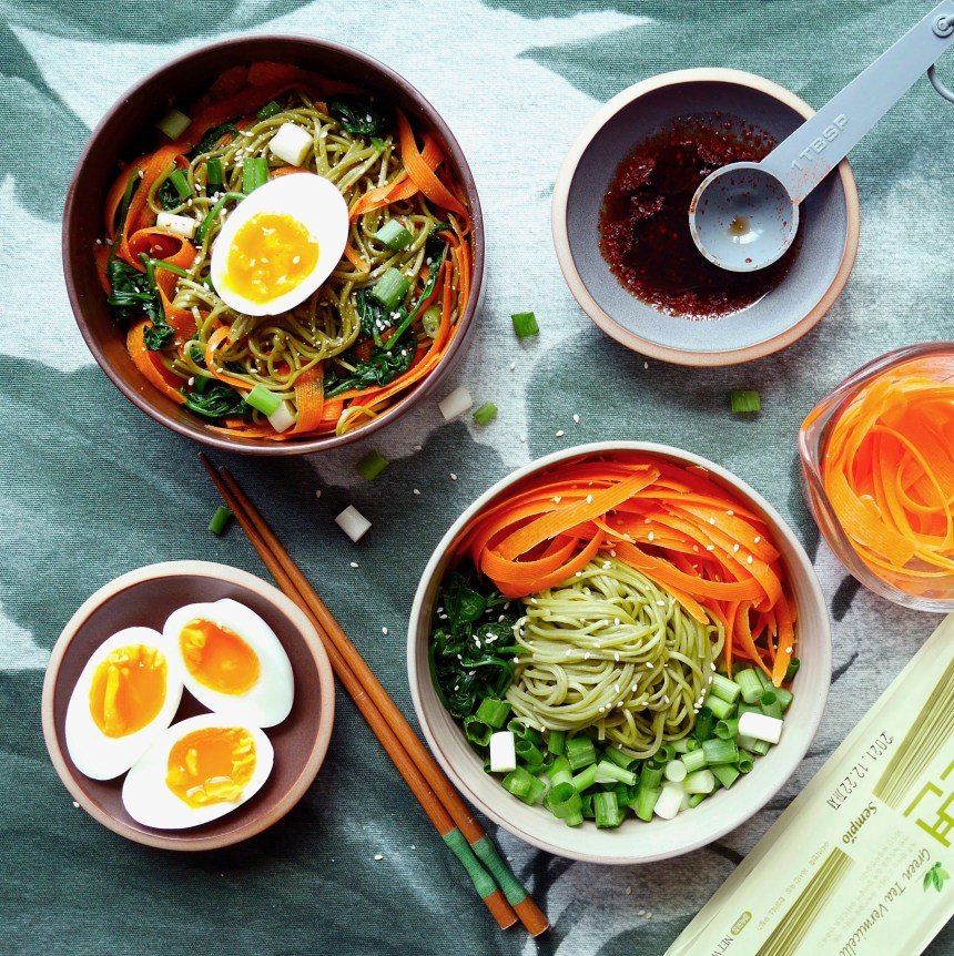 healthy korean noodle salad