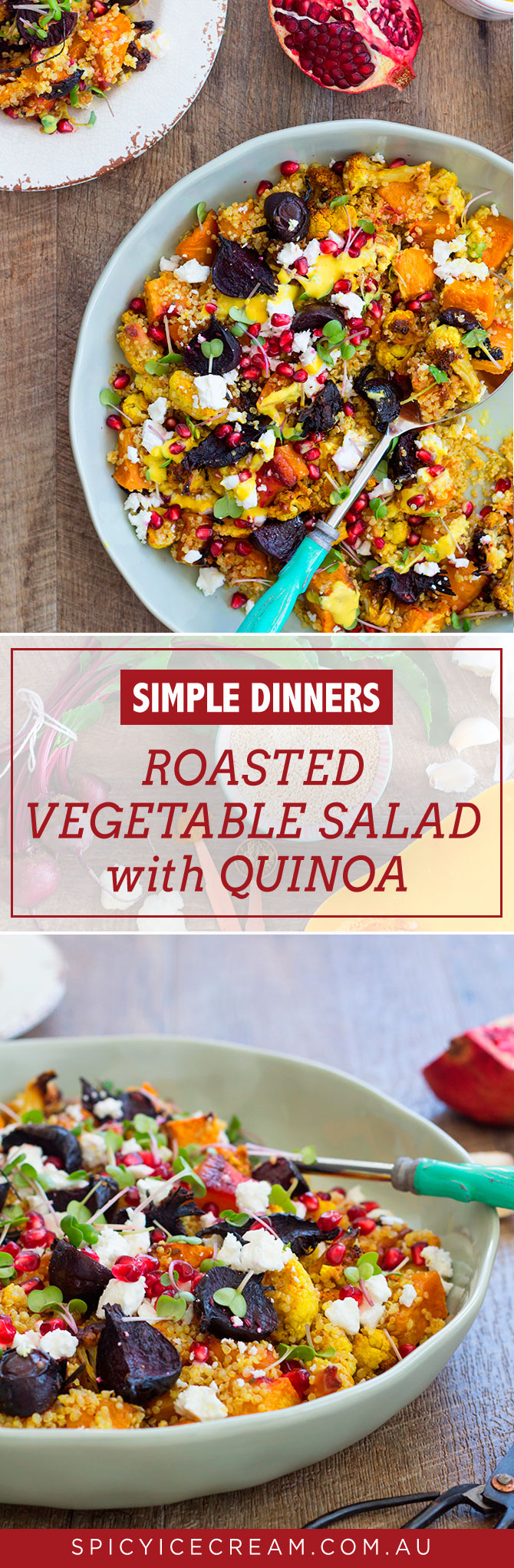 Roasted Vegetable Salad with Quinoa