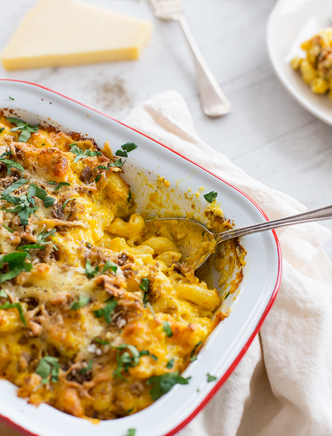 Pumpkin Cauliflower Mac and Cheese