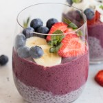 Blueberry Acai Smoothie & Chia Parfait