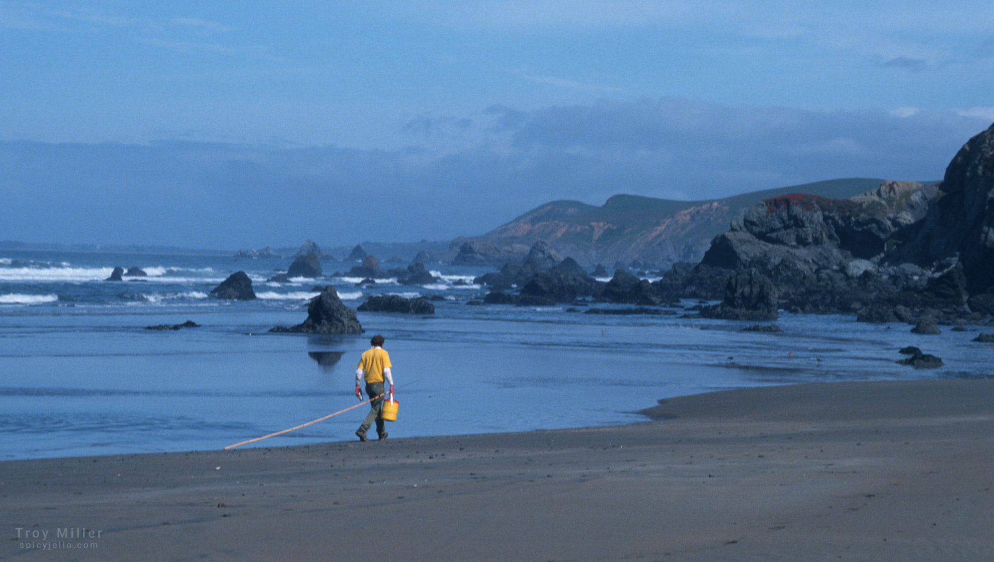 Fisherman on Dillon Beach