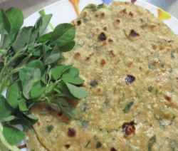Methi Paratha(Fenugreek Leaves Paratha) - Spicy Kitchen