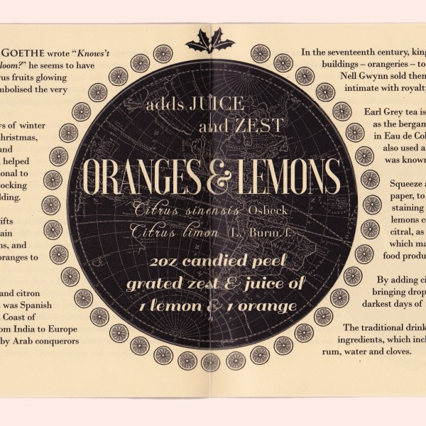 Oranges and lemons - ingredients of the Christmas Pudding