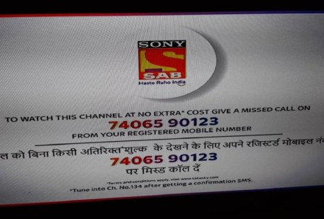 Tata Sky has stopped broadcasting of Sony Entertainment and TV Today channels