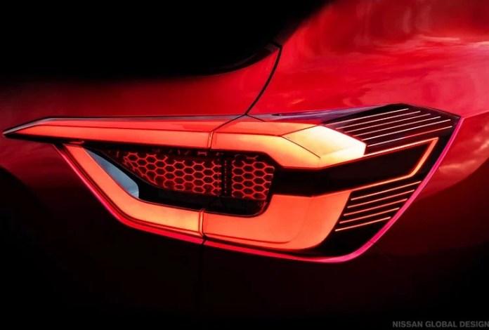Nissan Magnite SUV tail lamp teaser