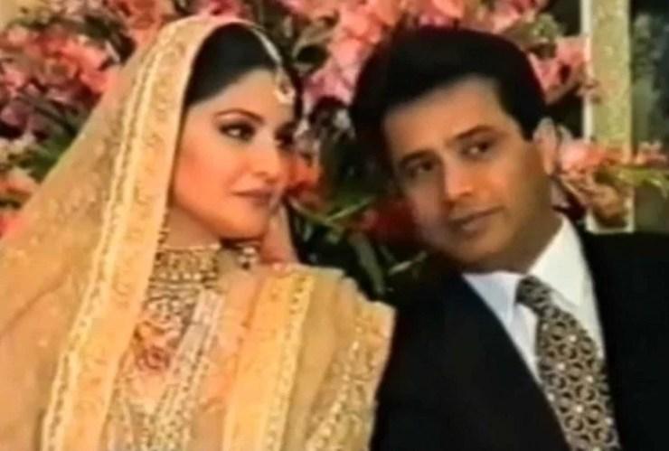 पति इश्तियाक बेग के साथ नाजिया हसन