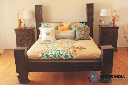 INDIAN LOW PILLAR BED