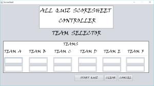 team selector
