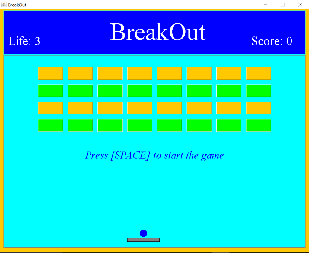 BreakOut welcome