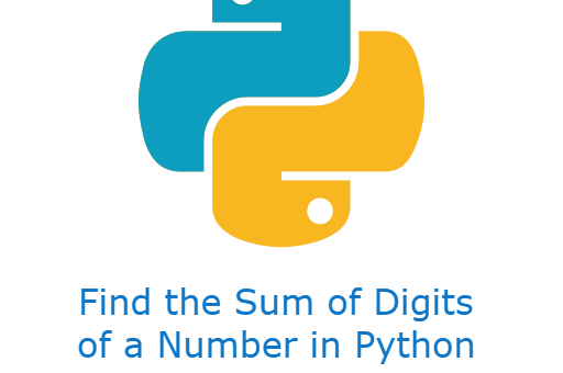 Find the Sum of Digits of a Number in Python