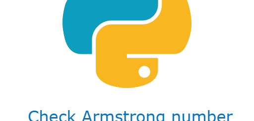 Check armstrong number in python