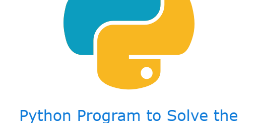 Python Program to Solve the Quadratic Equation