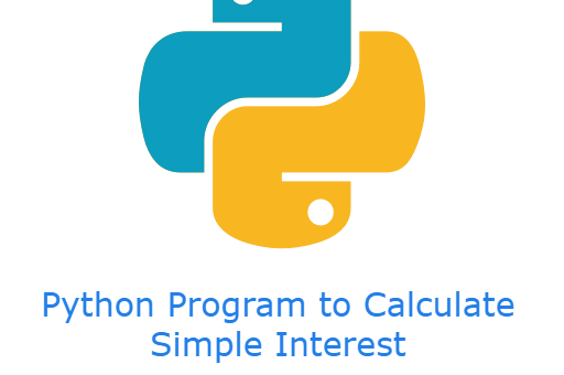 Python Program to Calculate Simple Interest