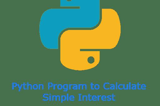 Python Program to Calculate Simple Interest