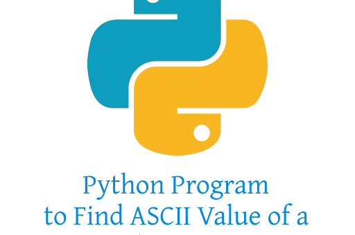 Python Program to Find ASCII Value of a Character