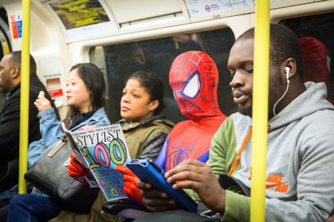 Spider-Man-reading-Stylist-on-the-tube_mini