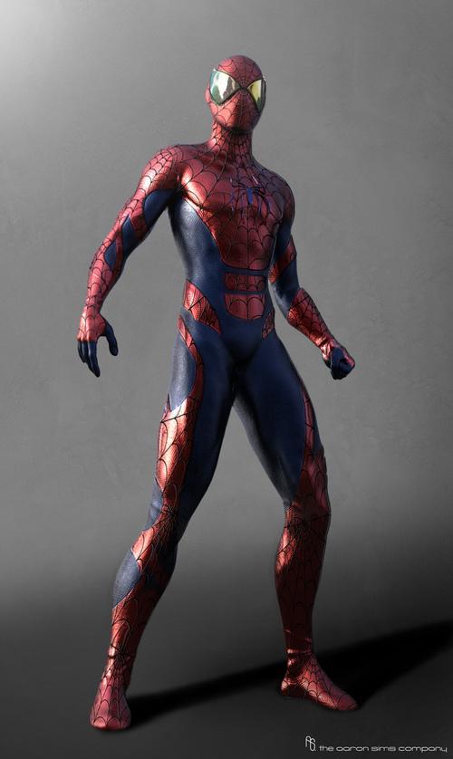 Alternate Spider Man Suit Concept Art