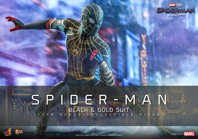 Hot Toys - Spider-Man - No Way Home - Black Suit - 01