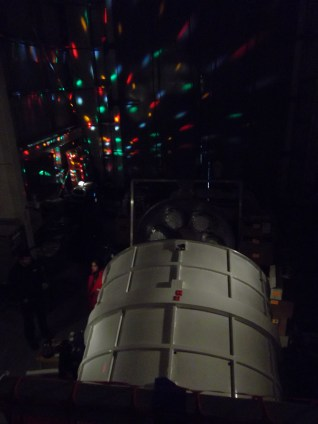 #AntarcticaProblems: The generators for LDB had to be taken down for upgrades for an hour, so we powered a disco ball off a UPS and hung out in the dark.
