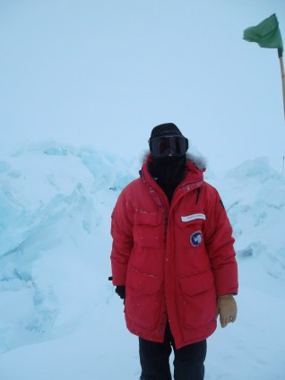 Me, with some sweet ice formations.