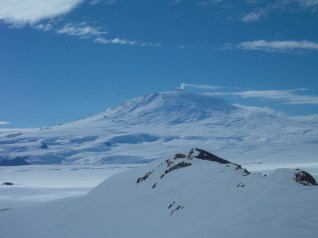 Mt. Erebus from the base of Castle Rock.