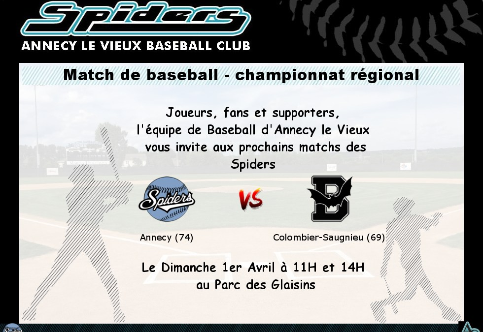 Spiders – Annecy le Vieux vs Batts – Colombier Saugnieu