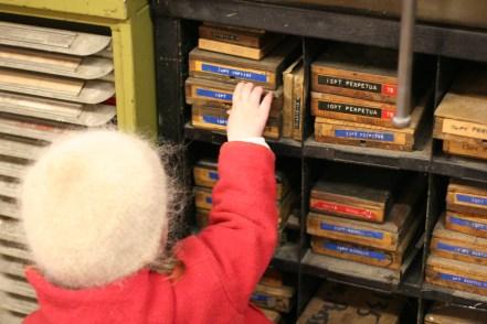 Investigating Type at Whittington Press © Sarah Dixon 2015