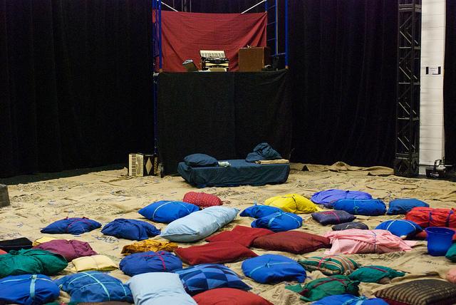 Pi Theatre Obstructions Set Up