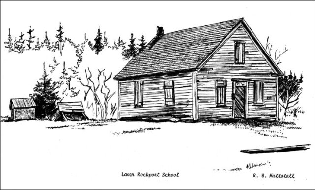 IMAGE 8 – Rockport schoolhouse Photo by R.B. Mattatall, no dateRockport School_Tantramar Heritage