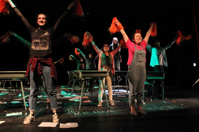 A scene from Exploder at Western Canada High School