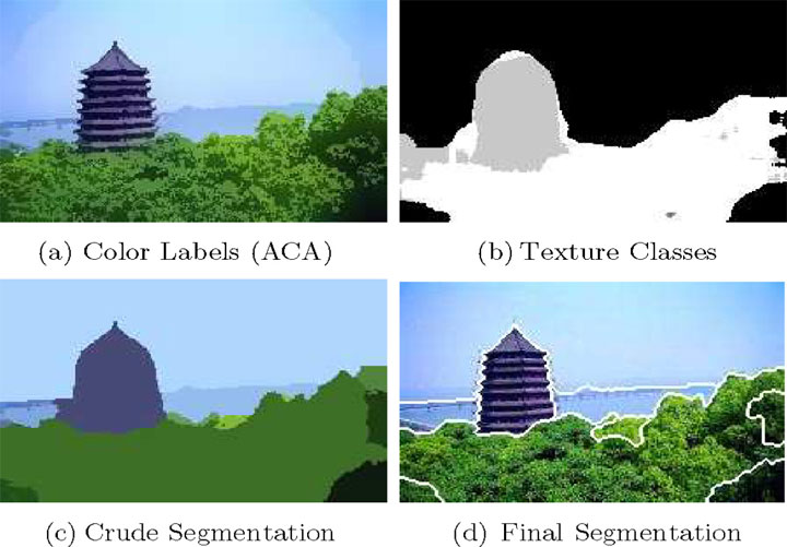 Multiple steps in a more advanced segmentation algorithm