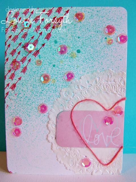@spiegelmomscraps @jodyspiegelhoff, #sequins #doiliy #cardmaking #ink #stamp #mist