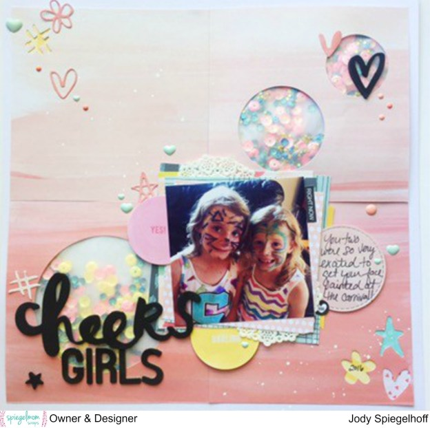 @spiegelmomscraps @jodyspiegelhoff @kaiserkraft @americancrafts @pinkpaislee @bellablvdllc @amytangerine @mymindseyeinc, #spiegelmomscraps #scrapbooking #americancrafts #pinkpaislee #fancefreecollection #fancyfree #layout #kaiserkraft #metaldie #Icondie #nestingstitchedcircles #thickers #sequins #shakerpocket