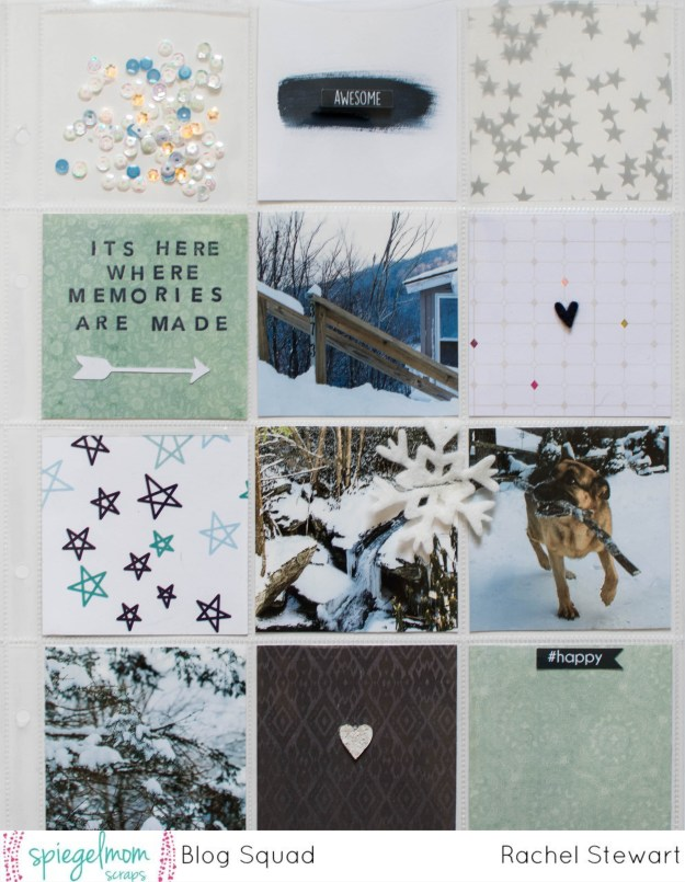 #ProjectLife #SpiegelMomScraps #concordand9th #CreatewithSMS #scrapbooking #pocketscrapbooking #shimmerzpaints #snowyday #exclusivesequins @spiegelmom_scraps @wordsandpaperscraps @Shimmerzpaints