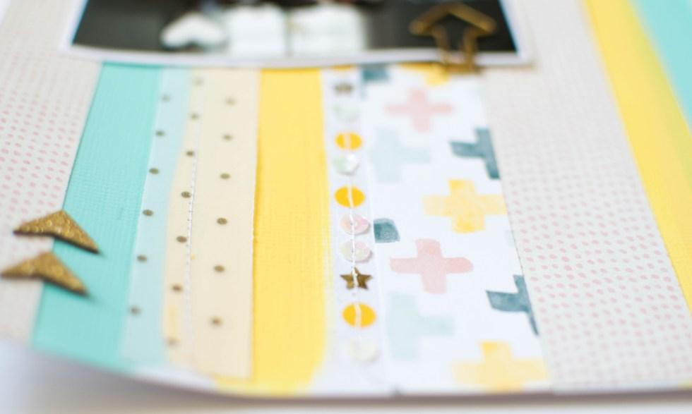 #cratepaper #spiegelmomscraps #sequins #shimmerzpaints #mixedmedia #stitching #americancrafts #createwithsms #feltie #vellum #scrapbooking #papercrafting #valentinesDIY
