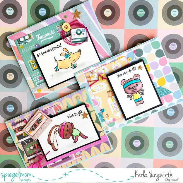 @spiegelmomscraps @jodyspiegelhoff @prettycutestamps @janedavenport @prima @michaelsstores @buttonsgalore #retro #spiegelmomscraps #sequins #cork #burlapstring #buttons #motivational #cards #giftset #watercolor #80's #scrapbooking #papercrafting