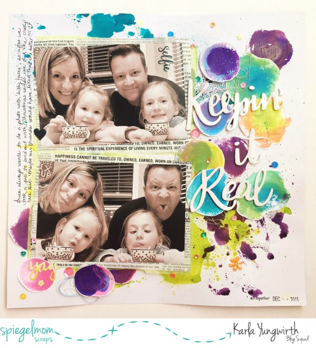 Mixed Media With Karla – Keepin' It Real Scraplift