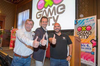 Pressefrühstück und Eröffnung Game-City Spielemesse,Wiener Rathaus, Wien, 2.10.2015,Christian OXONITSCH, Paul PITZER