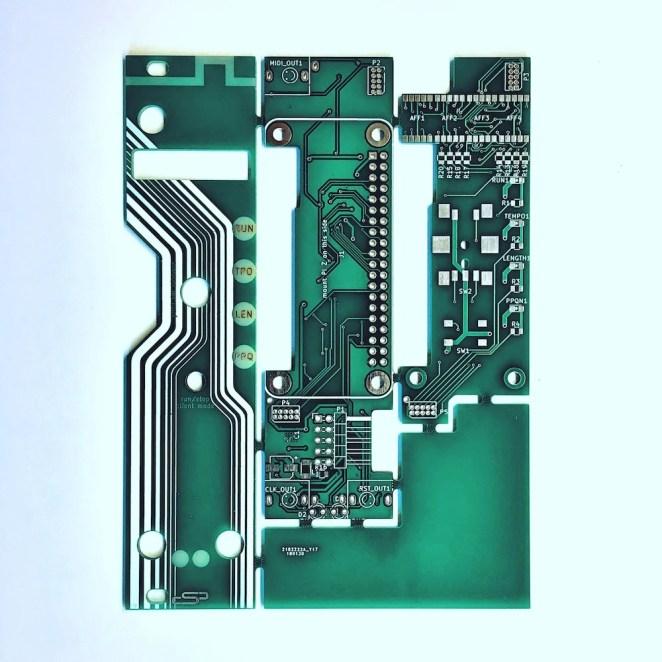 spink0 PCBs — Raspberry Pi Zero W eurorack module.